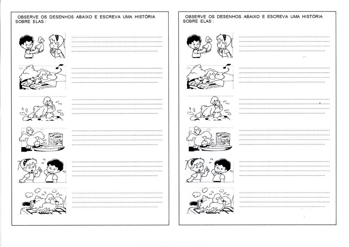 Produção de texto a partir de figuras em sequência
