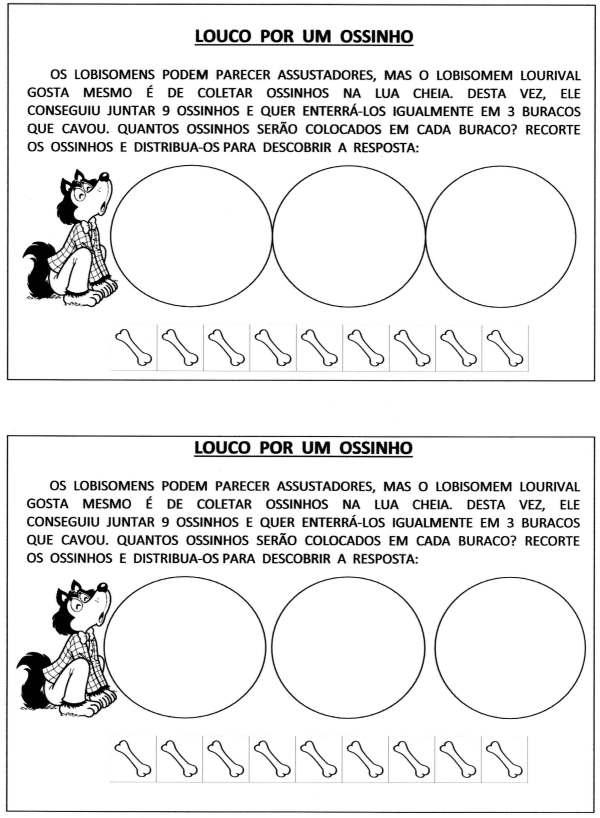 Situações-Problema Atividades de Matemática-Folclore-Folha 1