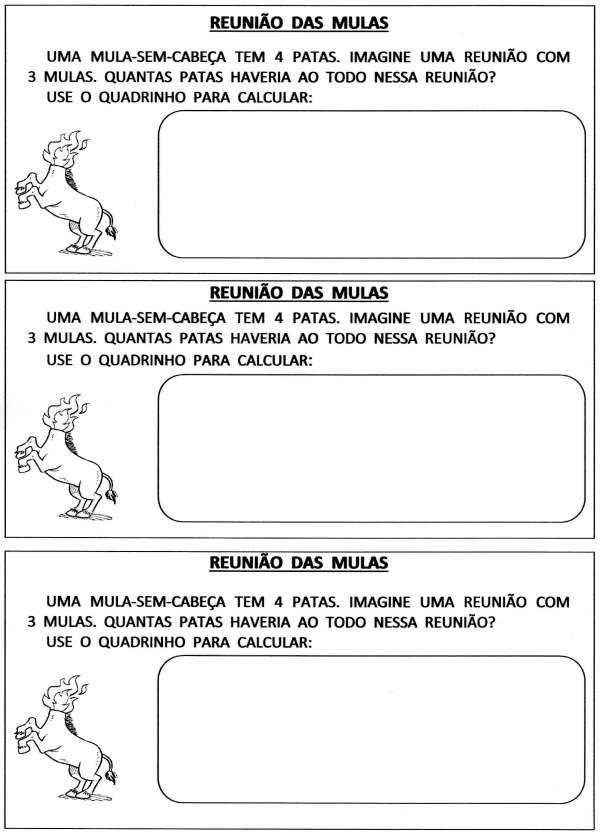 Situações-Problema Atividades de Matemática-Folclore-Folha 2