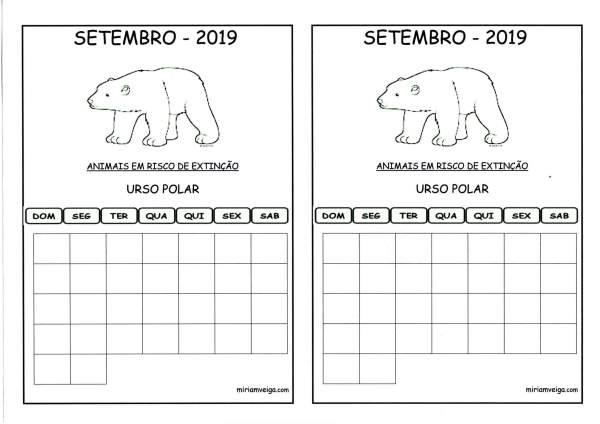 Calendário 2019 Agosto-Aluno