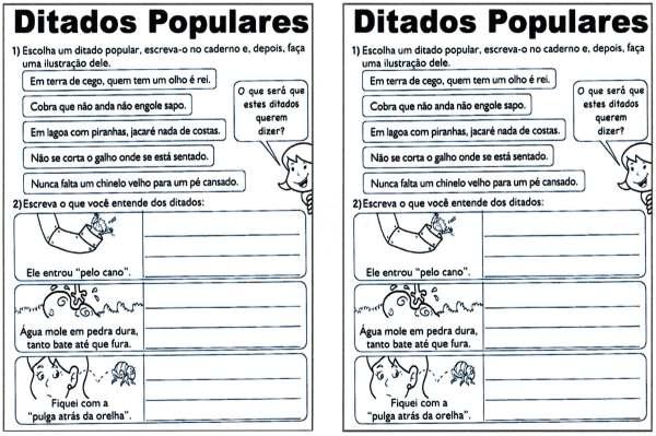 Ditados Populares-Cultura popular Interpretação