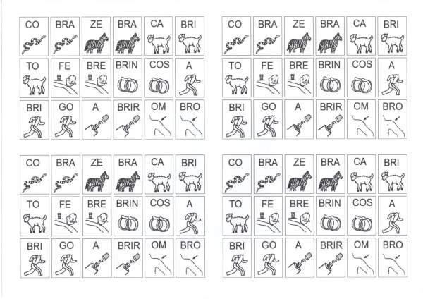 Dificuldades Ortográficas-Figuras com Sílabas-BR