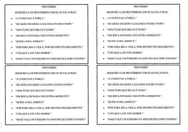 Provérbios Populares-Interpretação