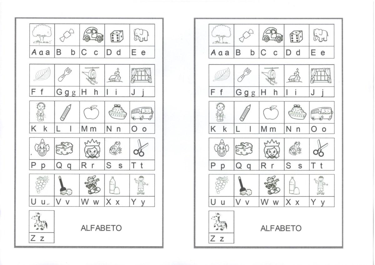 Alfabeto-Maiúsculo e minúsculo para caderno