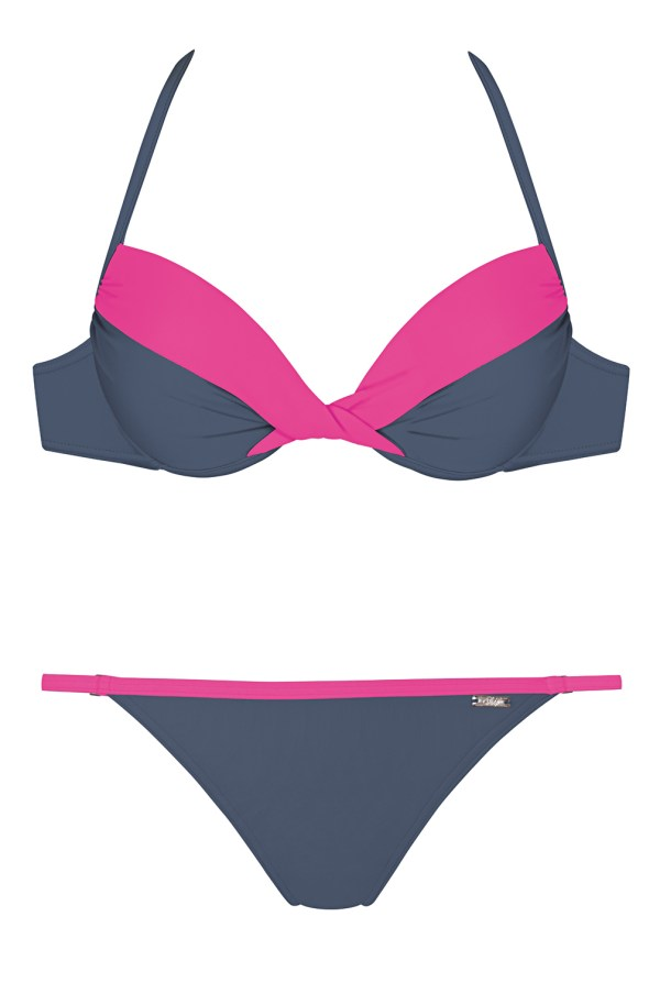 Push-up Bikini Self Pink/Grau (Mod.813L)