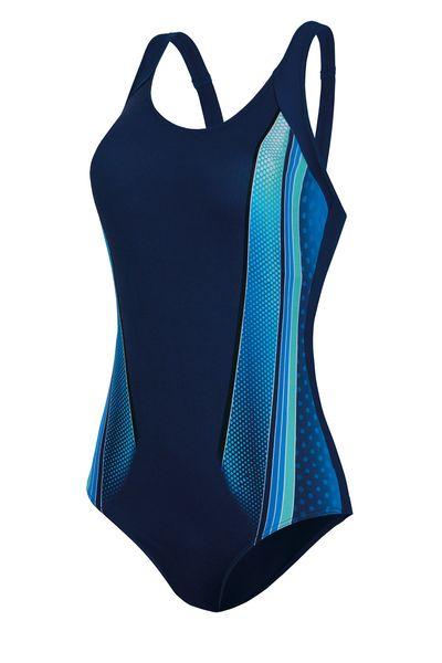 Badeanzug sportlich blau