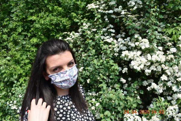 Mundschutz Maske Baumwolle gemustert