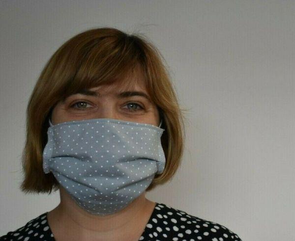Baumwolle Schutzmaske hellgrau