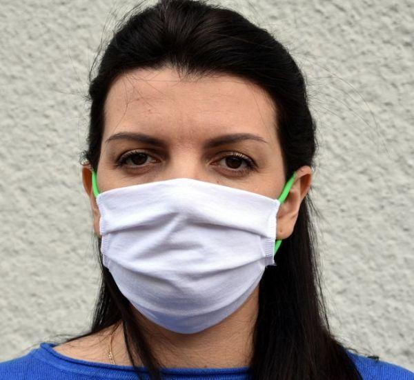 Mundschutzmaske weiß Baumwolle