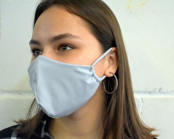 Mundschutz, Gesichtsmaske hellgrau