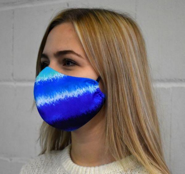 Mundschutz,Gesichtsmaske, blau Nordlichter