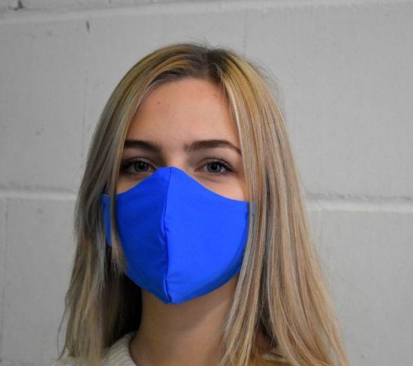Gesichtsmaske, Mundschutz, Behelfsmaske blau