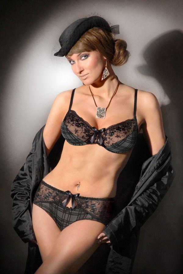 Bügel BH Roxy grau schwarz