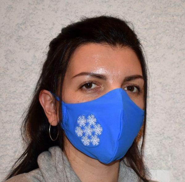 Behelfsmaske, Schutzmaske, Mundschutz Schneeflocke Mundmaske Weihnachten
