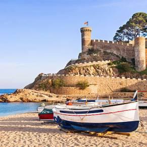 Mediterranean village of Tossa de Mar, Costa Brava, Spain