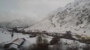 Campos nevados de camino a Astorga.