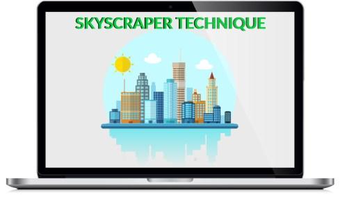 """tecnica per aumentare il traffico al tuo blog """"skyscraper"""""""