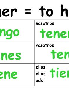 Tener chart spanish also people davidjoel rh