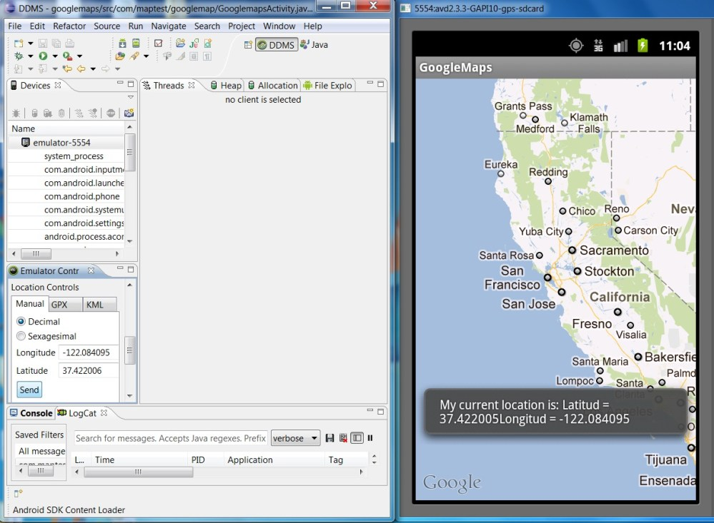 Android Google Maps Tutorial Part 2. Using GPS in Android and Animating Google Maps to the Current GPS location. (2/2)