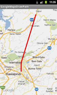 Android Google Maps Tutorial Part 7, Drawing A Path or Line Between Two Locations (3/3)