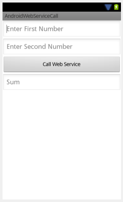 Android: Calling a web service using KSOAP2. Passing values to a web service. (2/2)