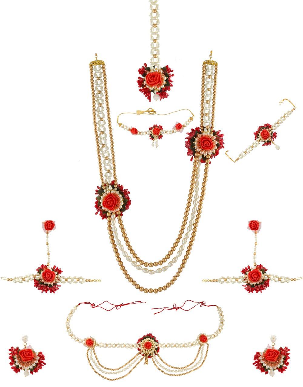 Dohale Jevan Jewellery : dohale, jevan, jewellery, Wedding, Season, Range, Flower, Jewellery, Online, Anuradha, Tanuja, Medium