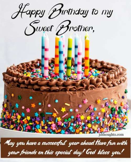 Images Of Happy Birthday Brother : images, happy, birthday, brother, Happy, Birthday, Wishes, Sister, Brother:, Messages, Quotes, Jdthoughts, Medium