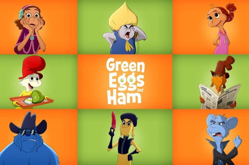 Resultado de imagen de huevos verdes con jamon