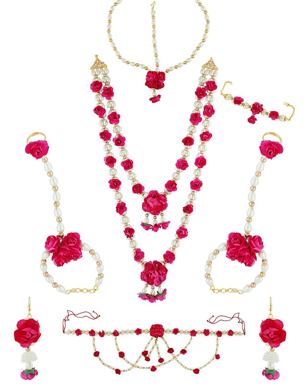 Dohale Jevan Jewellery : dohale, jevan, jewellery, Exclusive, Artificial, Floral, Jewellery, Haldi, Anuradha, Singh, Medium