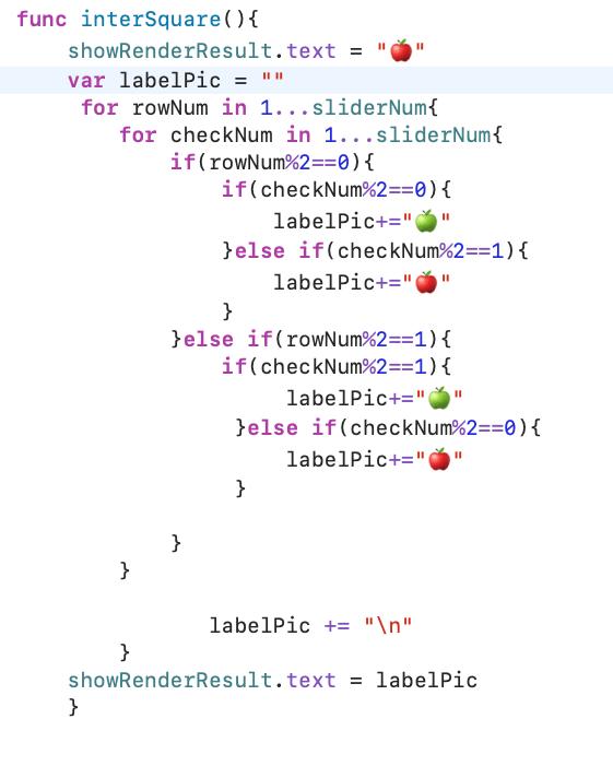 #60 畫星星蘋果 — nested loop 練習. 歡迎看了文章的大大多多指教 ~   by Yu Chen Lin   彼得潘的 Swift iOS App 開發教室 ...