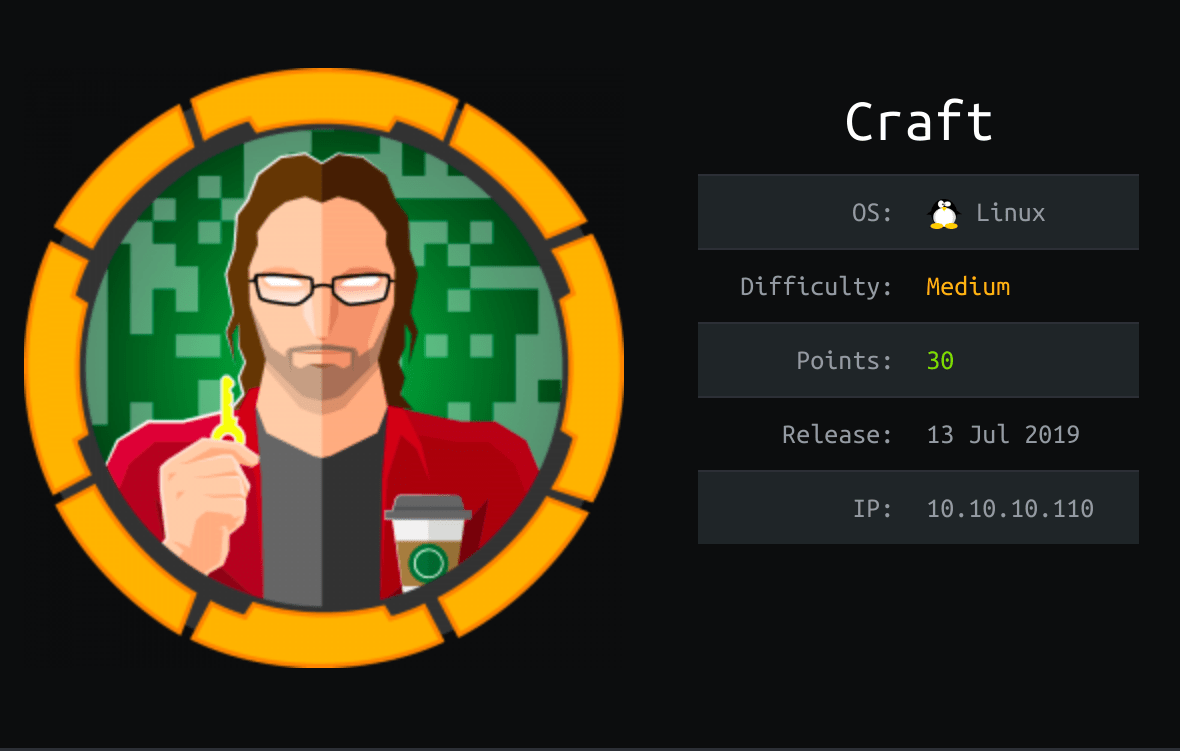 Htb Craft Experience Introduction By Falconspy Medium