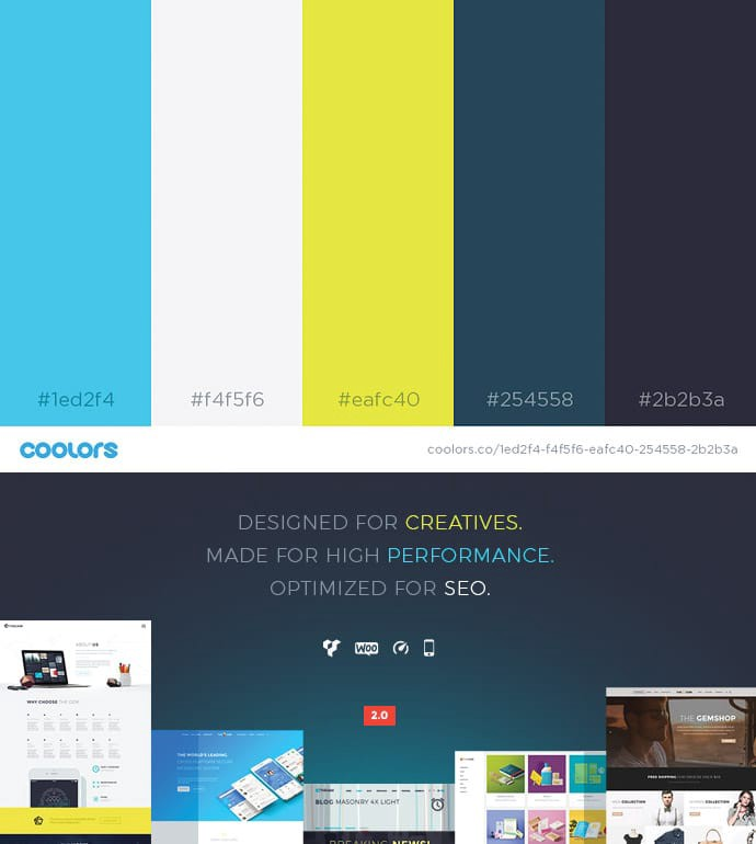 49 color schemes for