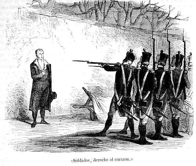 Resultado de imagen para Fotos de Manuel Carlos Piar es fusilado por orden del general Simón Bolívar