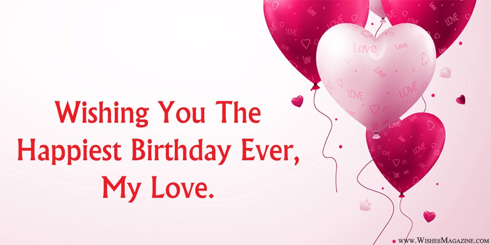 romantic birthday wishes for