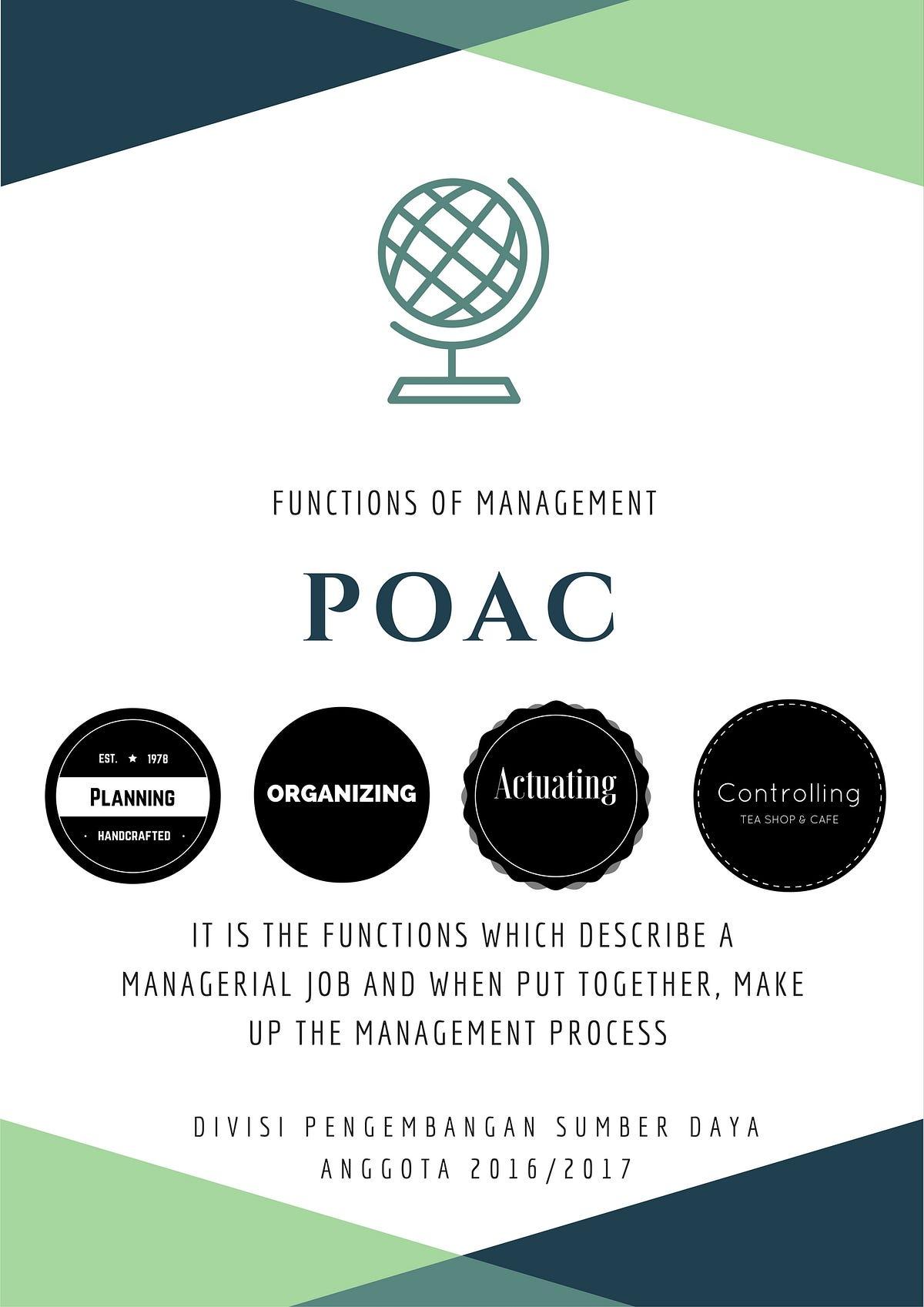 Makalah Poac : makalah, Planning,, Organizing,, Actuating,, Controlling, Manajemen, Organisasi, TERRA, Medium