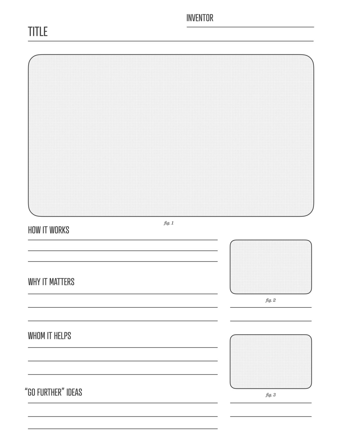 Draw With Your Daughters The Inventor S Worksheet