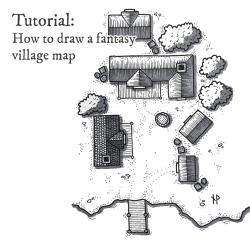 village map draw fantasy tutorial maps paths tutorials