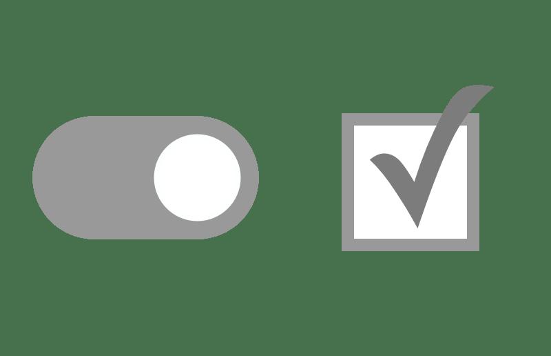 checkbox vs toggle switch