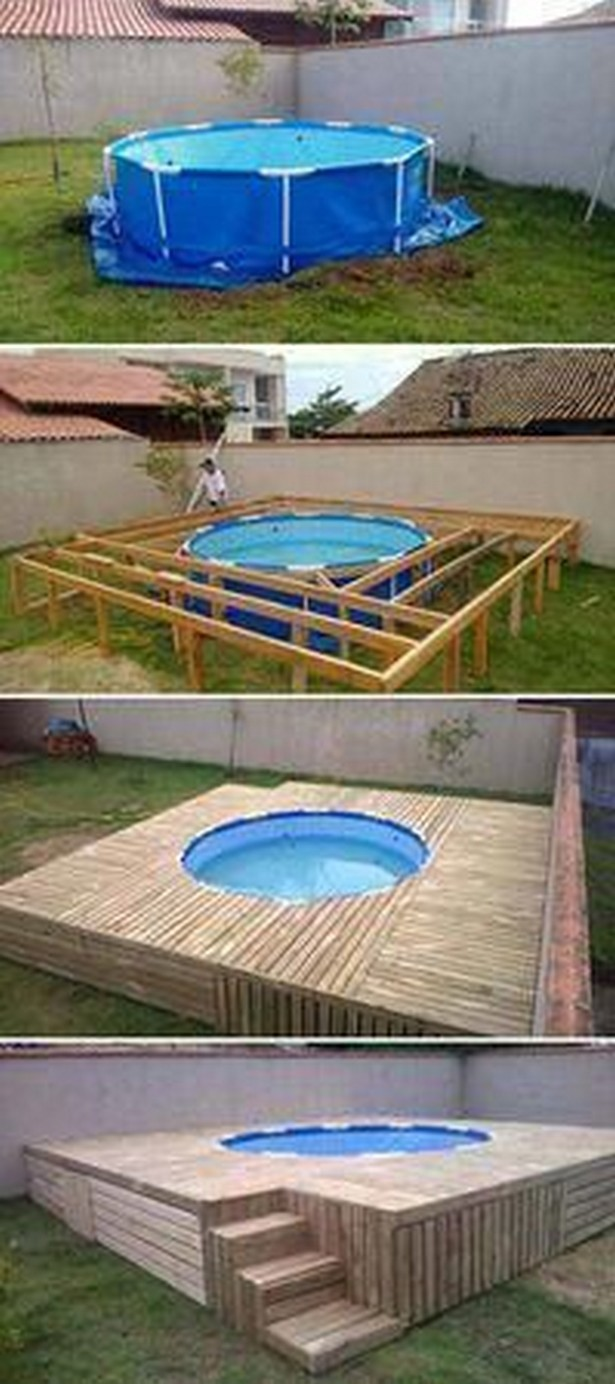 15 Above Ground Pool Deck Ideas On A Budget By Diymakes Medium