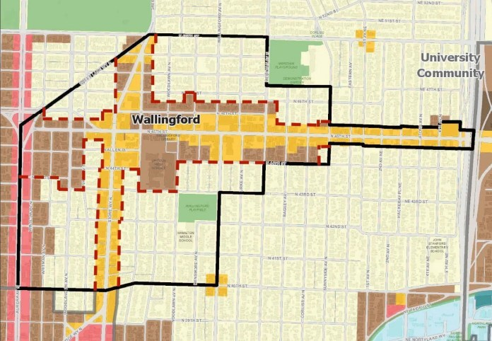 Wallingford Community Council-proposed contraction of Urban Village to exclude single-family zones.