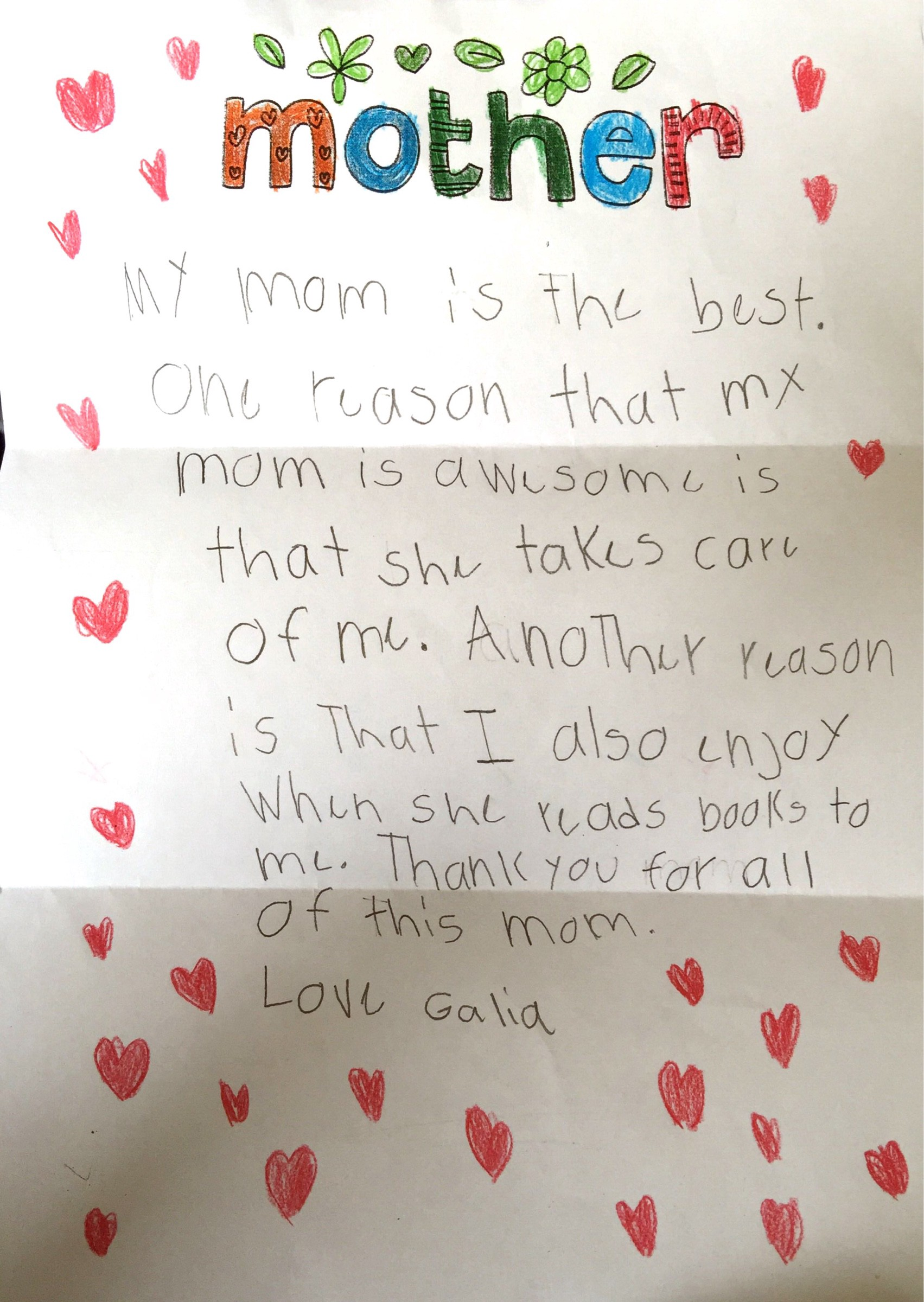 Letter To My Mother For Mother S Day