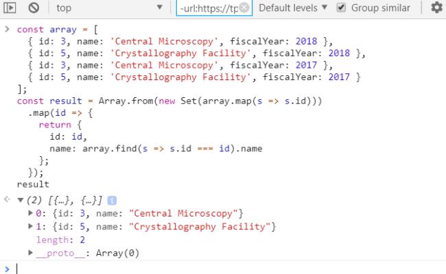 Javascript Array Distinct Codeburst