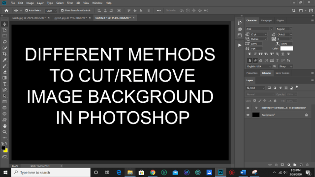Different methods to cut/remove image background in Photoshop