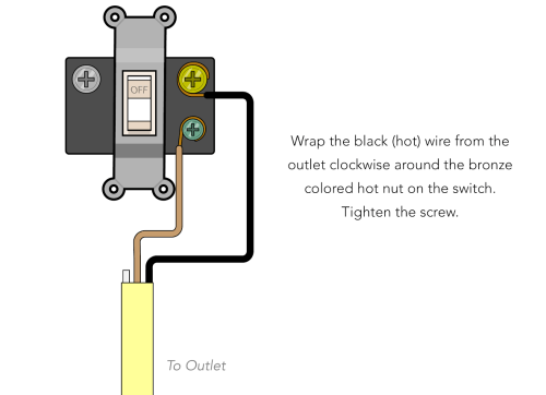 small resolution of since you wrapped a bit of black tape around this wire in the outlet box do the same with this