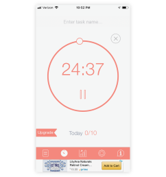 the be focused timer app is a simple timer with a pomodoro tomato inspired aesthetic  [ 1400 x 1192 Pixel ]