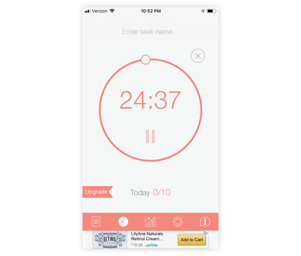 medium resolution of the be focused timer app is a simple timer with a pomodoro tomato inspired aesthetic