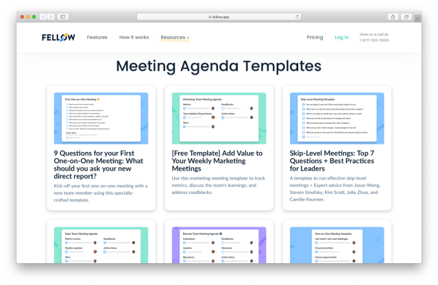 10 One-on-One Meeting Templates for Engaged Teams  by Fellow app