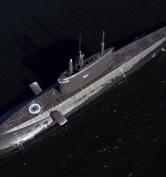 good top view of a russian kilo 636 3 submarine [ 1400 x 938 Pixel ]