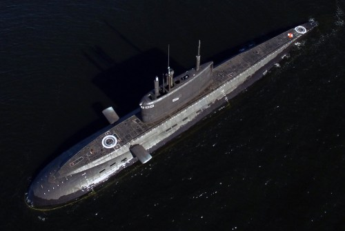 small resolution of good top view of a russian kilo 636 3 submarine