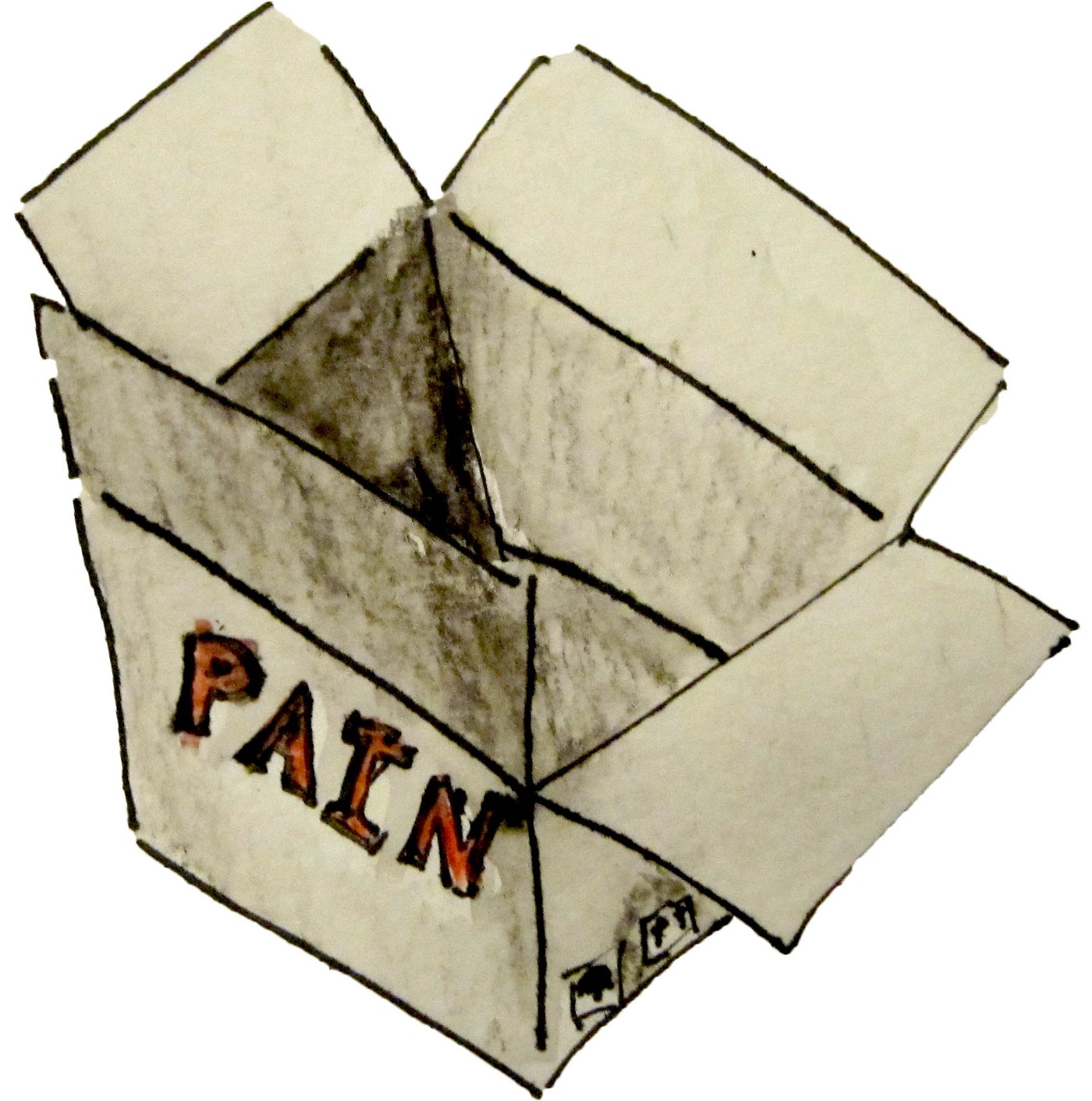 hight resolution of a box with pain inside